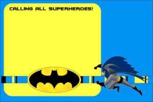 Free Printable Batman Forever Invitation Template | Drevio in Batman Birthday Card Template
