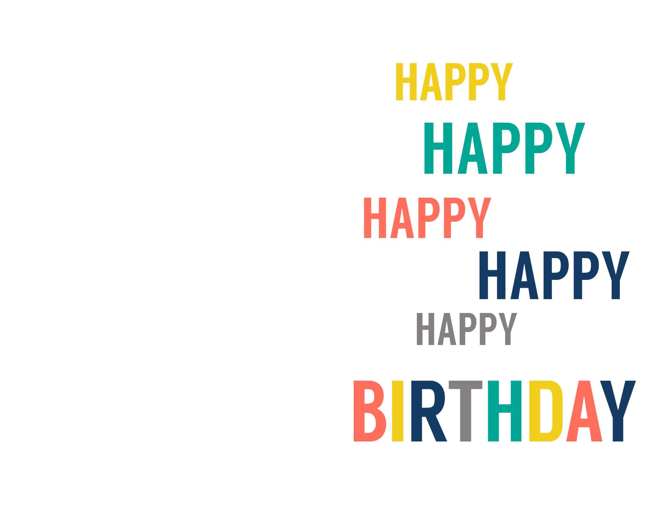 Free Printable Birthday Cards - Paper Trail Design Inside Foldable Birthday Card Template
