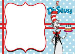 Free Printable Cat In The Hat Invitation Templates | Drevio within Dr Seuss Birthday Card Template