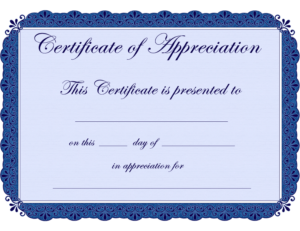Free Printable Certificates Certificate Of Appreciation within Certificates Of Appreciation Template