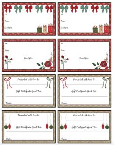 Free Printable Christmas Gift Certificates: 7 Designs, Pick intended for Free Christmas Gift Certificate Templates