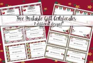 Free Printable Christmas Gift Certificates: 7 Designs, Pick throughout Free Christmas Gift Certificate Templates