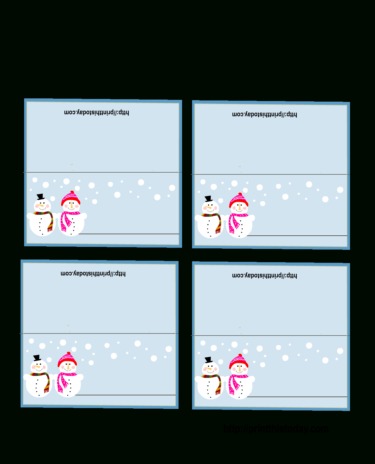 Free Printable Christmas Place Cards For Christmas Table Place Cards Template