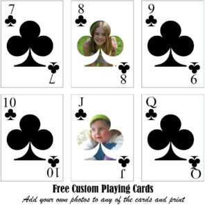 Free Printable Custom Playing Cards   Add Your Photo And/or Text regarding Custom Playing Card Template
