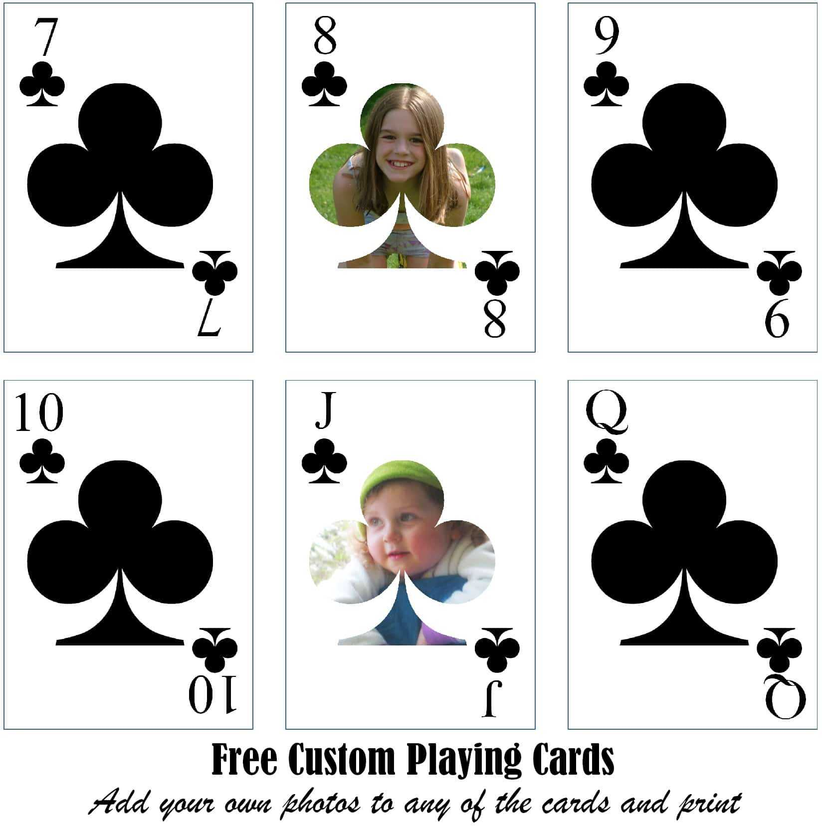 Free Printable Custom Playing Cards | Add Your Photo And/or Text Regarding Custom Playing Card Template