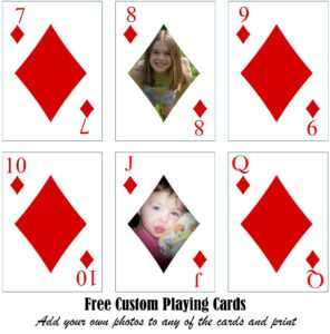 Free Printable Custom Playing Cards   Add Your Photo And/or Text with Free Printable Playing Cards Template