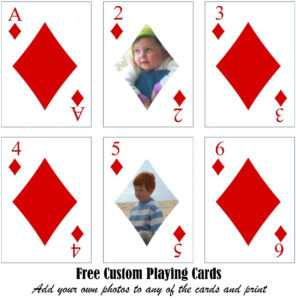 Free Printable Custom Playing Cards | Add Your Photo And/or Text within Deck Of Cards Template