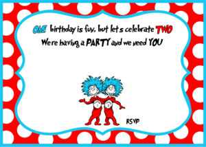 Free Printable Dr Seuss Birthday Invitations | Drevio within Dr Seuss Birthday Card Template