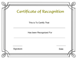 Free Printable Employee Certificate Of Recognition Template regarding Sample Certificate Of Recognition Template