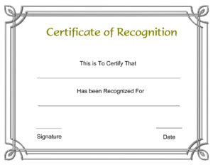 Free Printable Employee Certificate Of Recognition Template with Employee Of The Year Certificate Template Free