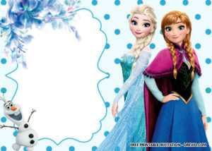Free Printable Frozen Anna And Elsa Invitation Templates intended for Frozen Birthday Card Template