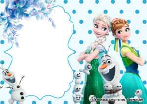 Free Printable Frozen Anna And Elsa Invitation Templates throughout Frozen Birthday Card Template