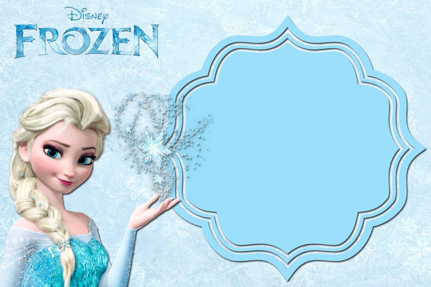Free Printable Frozen Anna And Elsa Invitation Templates Within Frozen Birthday Card Template