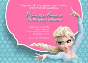 Free Printable Frozen Elsa Birthday Party Invitation Template in Frozen Birthday Card Template