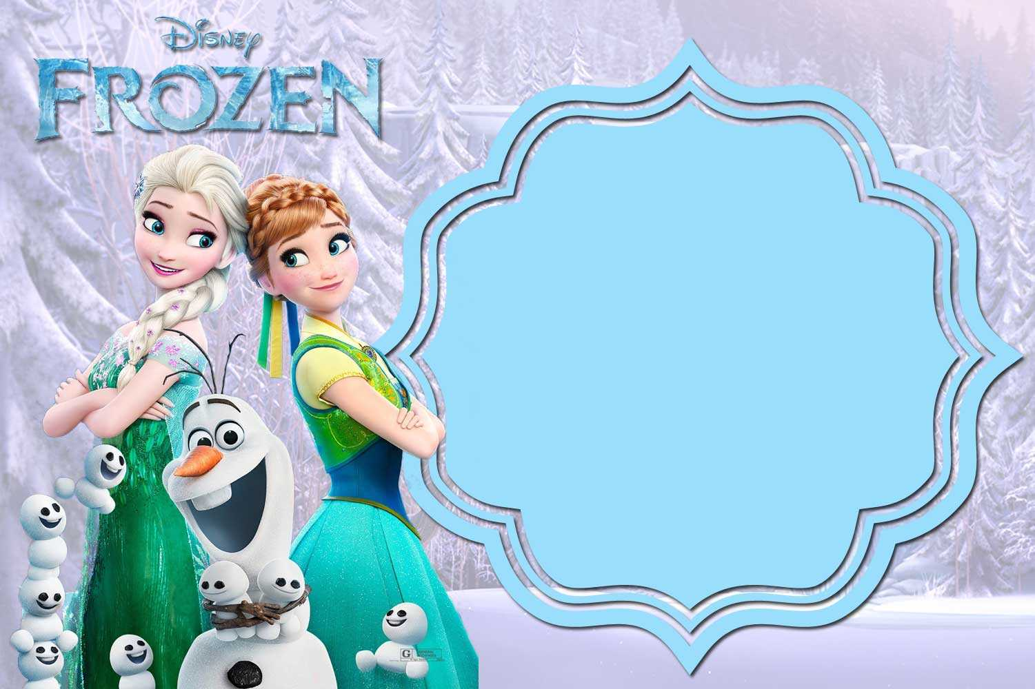 Free Printable Frozen Invitation Templates – Bagvania With Frozen Birthday Card Template