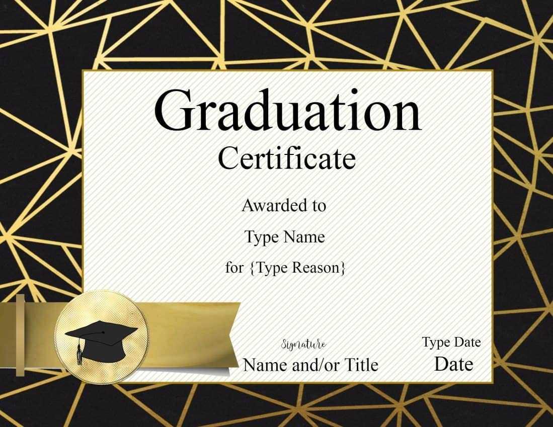 Free Printable Graduation Certificate Templates ] - Free Intended For Graduation Gift Certificate Template Free