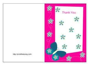 Free Printable Graduation Thank You Card Template – Cards in Free Printable Thank You Card Template