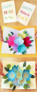 Free Printable Happy Birthday Card With Pop Up Bouquet – A regarding Free Printable Pop Up Card Templates