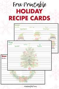 Free Printable Holiday Recipe Cards • Rose Clearfield Throughout Cookie Exchange Recipe Card Template