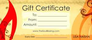 Free Printable Massage Gift Certificate Templates in Massage Gift Certificate Template Free Printable