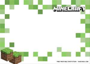 Free Printable) – Minecraft Birthday Party Kits Template intended for Minecraft Birthday Card Template