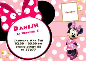 Free Printable Minnie Mouse Pinky Birthday Invitation with regard to Minnie Mouse Card Templates