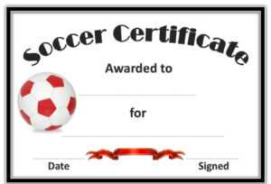 Free Printable Soccer Certificates And Award Templates inside Soccer Certificate Templates For Word