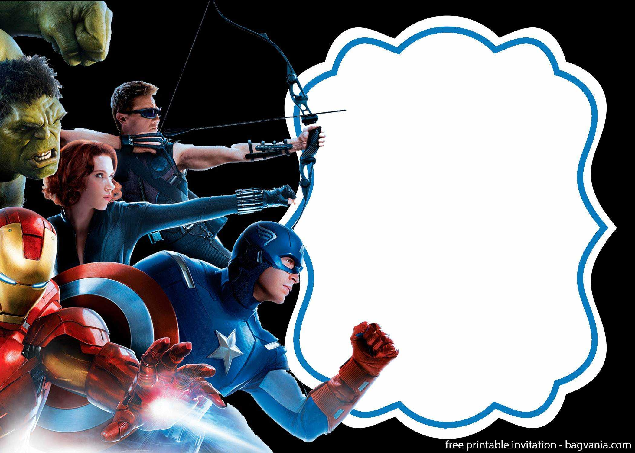 Free Printable The Avengers Invitation Template – Bagvania Pertaining To Avengers Birthday Card Template
