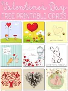 Free Printable Valentine Cards in Valentine Card Template Word