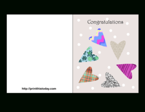 Free Printable Wedding Congratulations Cards intended for Template For Cards To Print Free