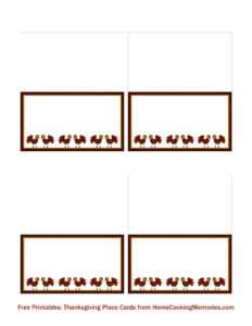 Free Printables: Thanksgiving Place Cards – Home Cooking throughout Fold Over Place Card Template