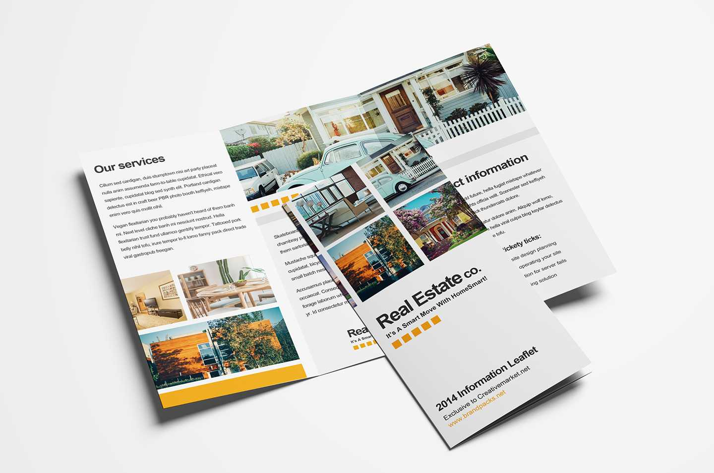 Free Real Estate Trifold Brochure Template In Psd, Ai Inside Real Estate Brochure Templates Psd Free Download