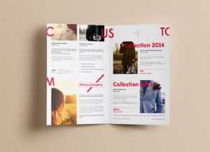 Free Realistic Bi-Fold Brochure Mockup Psd – Good Mockups pertaining to 2 Fold Brochure Template Psd