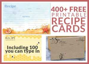 Free Recipe Cards – Cookbook People within Template For Cards To Print Free