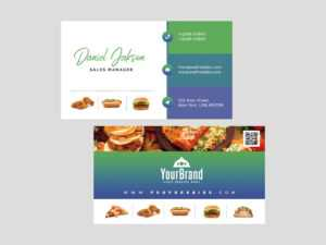 Free Restaurant Business Card Template (Psd) for Restaurant Business Cards Templates Free