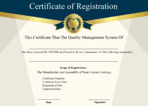 Free Sample Certificate Of Registration | Certificate Template inside Running Certificates Templates Free