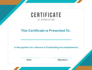 Free Sample Format Of Certificate Of Appreciation Template For Recognition Of Service Certificate Template