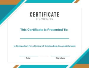Free Sample Format Of Certificate Of Appreciation Template inside Microsoft Word Certificate Templates