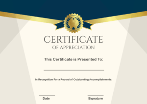 Free Sample Format Of Certificate Of Appreciation Template regarding Certificate Of Appreciation Template Doc