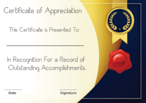 Free Sample Format Of Certificate Of Appreciation Template throughout Best Employee Award Certificate Templates