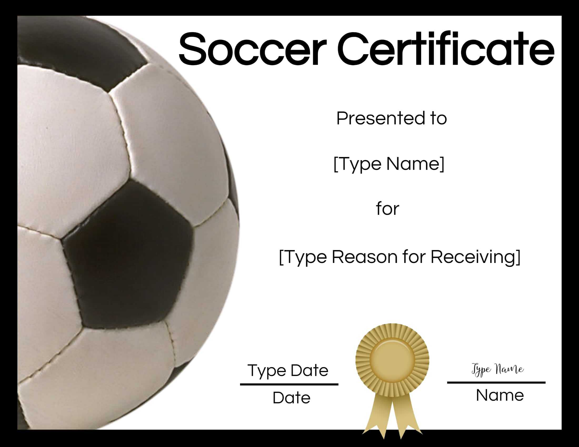 Free Soccer Certificate Maker | Edit Online And Print At Home Inside Soccer Certificate Template