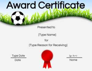 Free Soccer Certificate Maker | Edit Online And Print At Home intended for Soccer Certificate Templates For Word