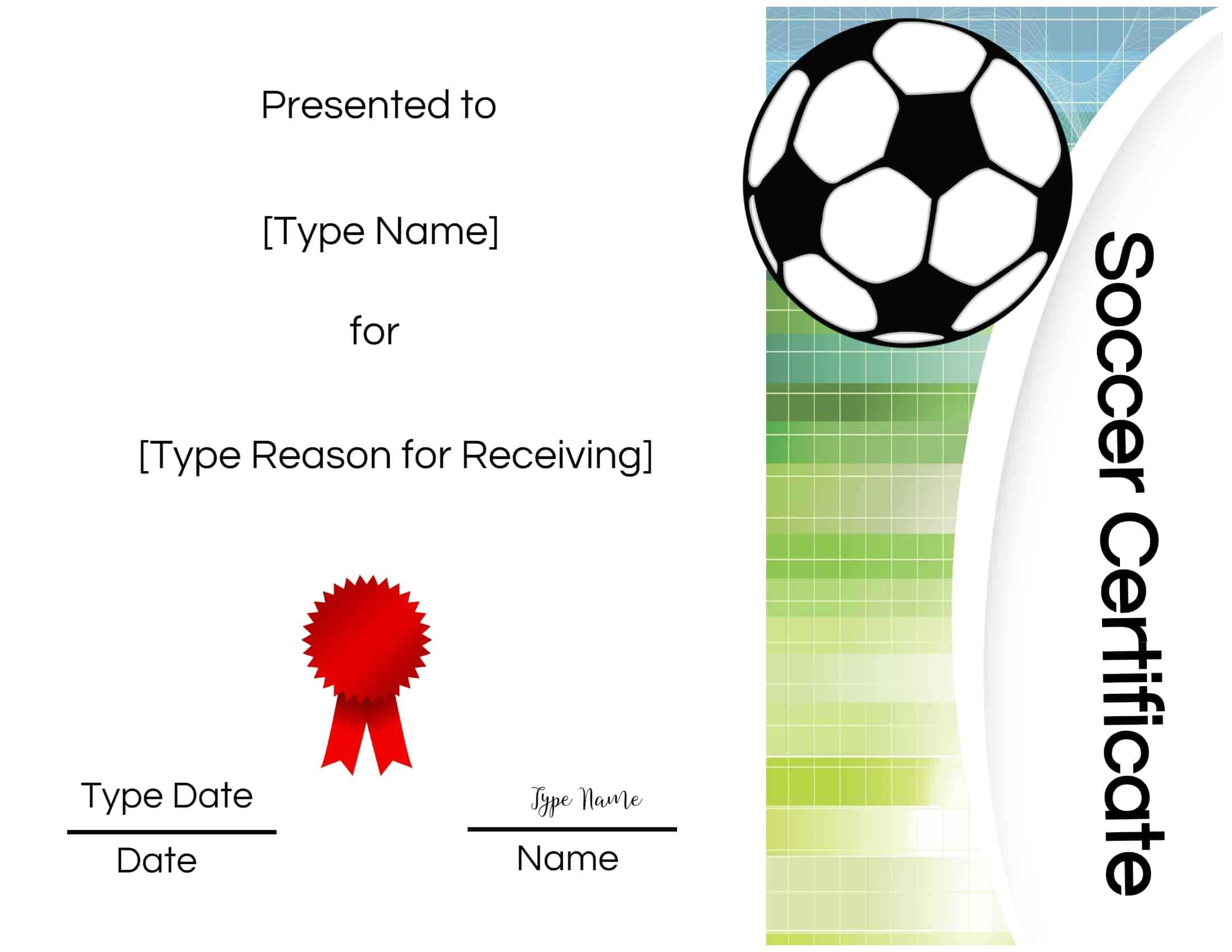 Free Soccer Certificate Maker | Edit Online And Print At Home With Regard To Soccer Certificate Template