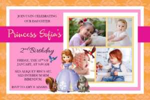 Free Sofia The First Birthday Christening Invitation regarding Free Christening Invitation Cards Templates
