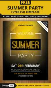 Free Summer Welcome Party Flyer Psd Template – Designyep in Welcome Brochure Template