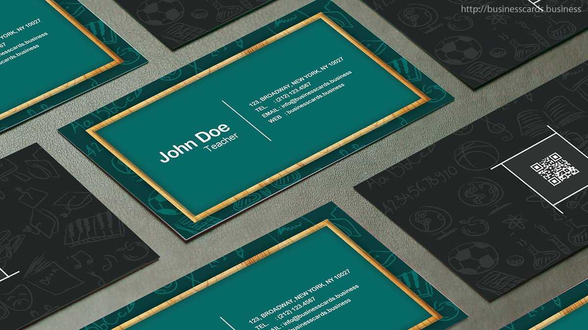Free Teacher Business Card Template : Business Cards Templates Regarding Business Cards For Teachers Templates Free