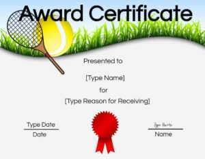 Free Tennis Certificates | Edit Online And Print At Home pertaining to Tennis Certificate Template Free
