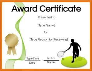 Free Tennis Certificates | Edit Online And Print At Home with Tennis Gift Certificate Template