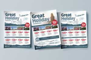 Free Travel Agency Poster & Brochure Template In Psd, Ai for Travel And Tourism Brochure Templates Free