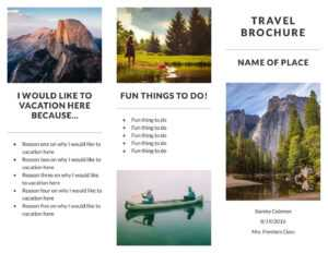 Free Travel Brochure Templates & Examples [8 Free Templates] for Country Brochure Template